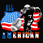 All American Football player 5 with Ball