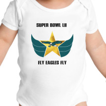 9a8f7f4b4 Fly Eagles Fly Baby Onesies | Kidozi.com