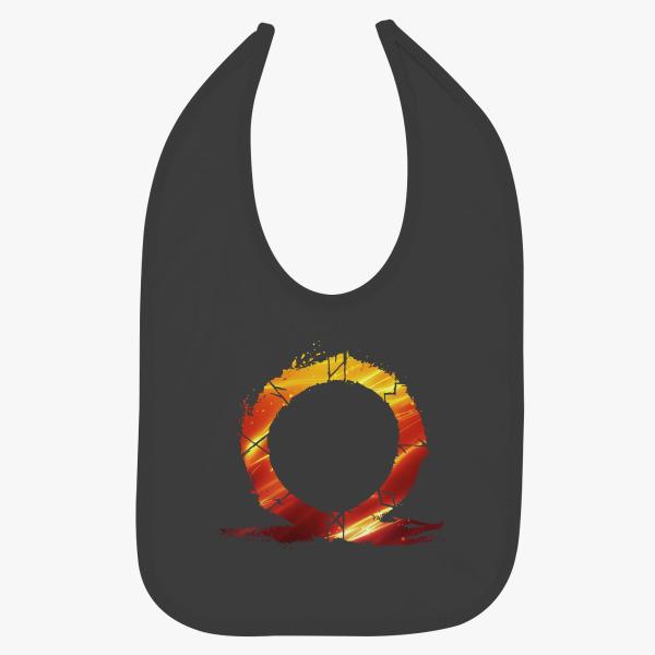 God Of War Omega Logo Burning Baby Bib Kidozi