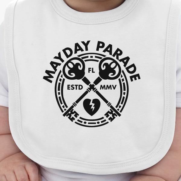 Mayday Parade Key Baby Bib Kidozi