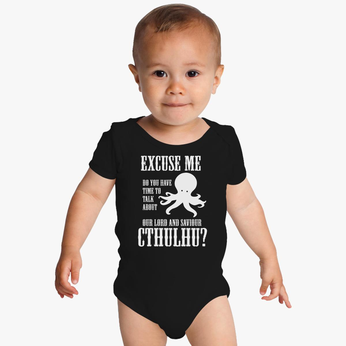 our lord and saviour cthulhu baby onesies kidozi com