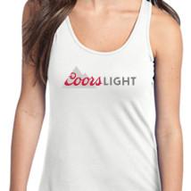 Women/'s Coors Light Tank Top White