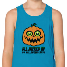 50d1594b9 All Jacked Up on Halloween Candy Jack-O'-Lantern Kids Tank Top