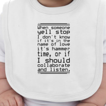 ee05529e2 The 30 Most Articulate Shirts Of All Time Baby Bib | Kidozi.com