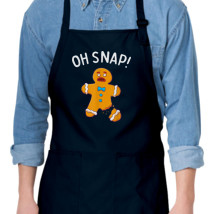 Oh Snap Funny Christmas Ginger Bread Man Cookie Apron Kidozi Com