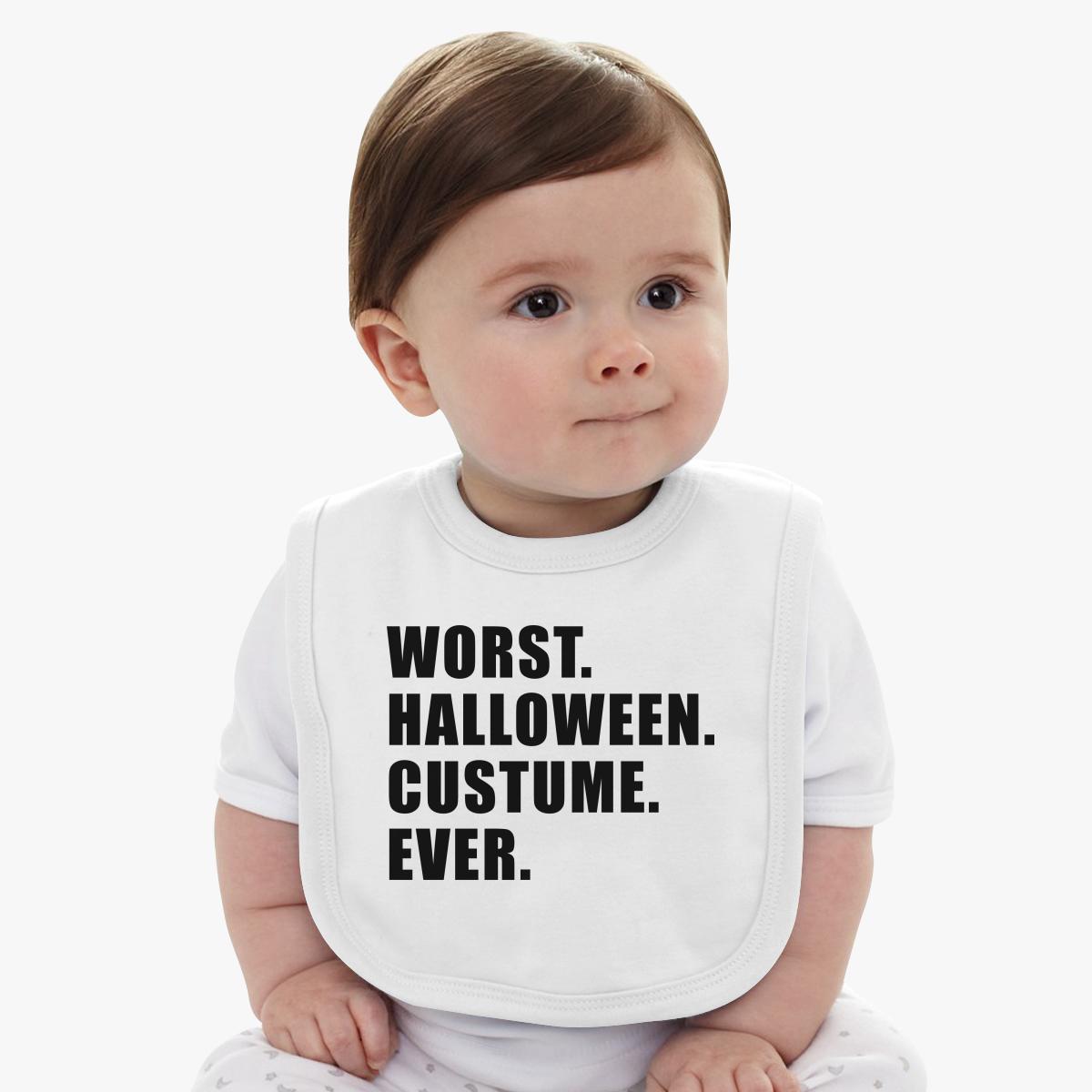 worst halloween costume ever baby bib | kidozi