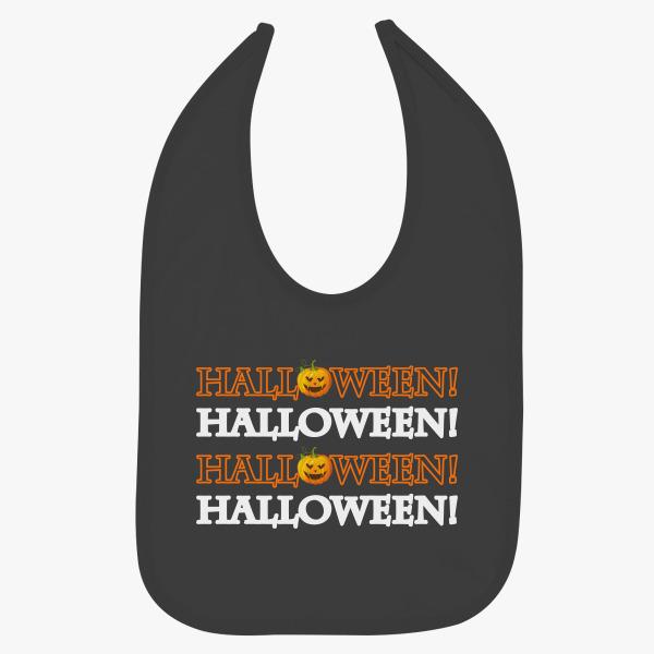 halloween funny mask baby bib