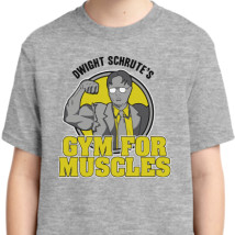 885a2d5c Dwight Schrute's Gym For Muscles Youth T-shirt | Kidozi.com